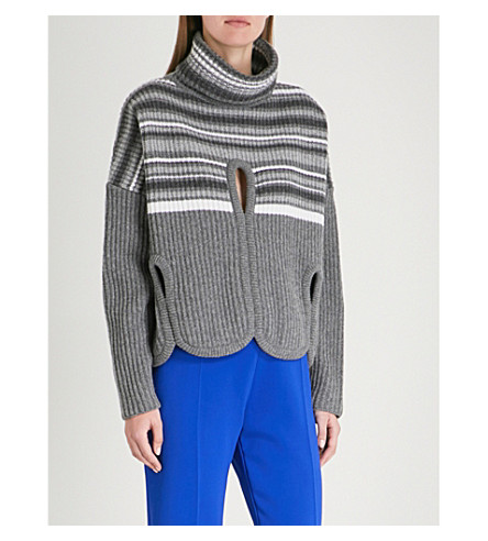 ANTONIO BERARDI Nobile wool and cashmere-blend turtleneck jumper (Open grey