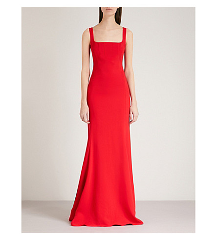 ANTONIO BERARDI Mara sleeveless crepe gown (Rosso