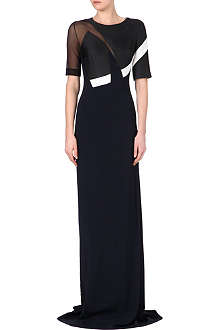 ANTONIO BERARDI Sheer-panel gown