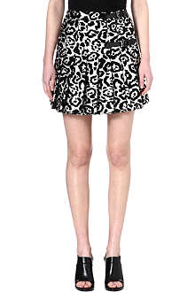 ANTONIO BERARDI Light-reflective animal print kilt