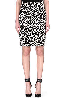 ANTONIO BERARDI Animal print pencil skirt