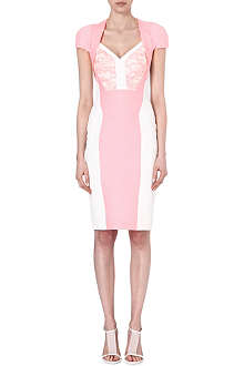 ANTONIO BERARDI Sculpted monochrome dress