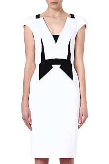 ANTONIO BERARDI Contrast-panel dress
