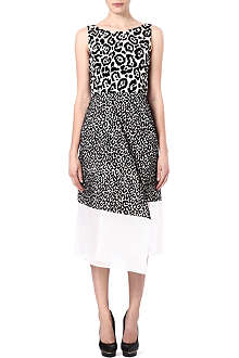 ANTONIO BERARDI Leopard print midi dress