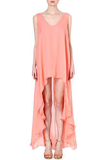 ANTONIO BERARDI Dropped-hem silk dress