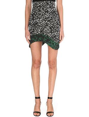 ANTONIO BERARDI Leopard print asymmetric skirt