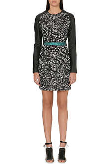 ANTONIO BERARDI Long-sleeved animal-print dress