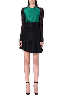 ANTONIO BERARDI Sheer-sleeve neoprene dress