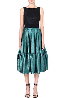 ANTONIO BERARDI Metallic frill-hem dress