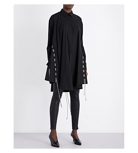 ANTONIO BERARDI Mesh-panel cotton shirt dress (Nerp