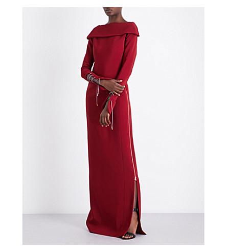 ANTONIO BERARDI Laced-detail crepe gown (Rubino