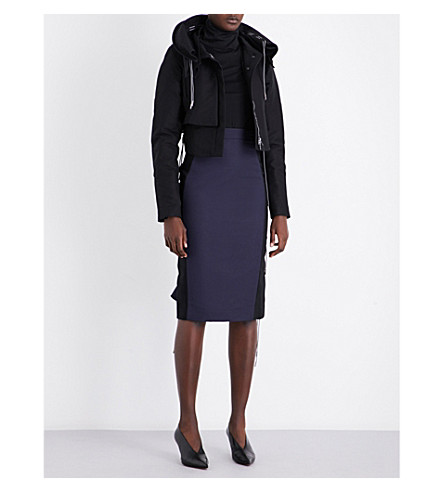ANTONIO BERARDI Drawstring-detail cotton jacket (Nero