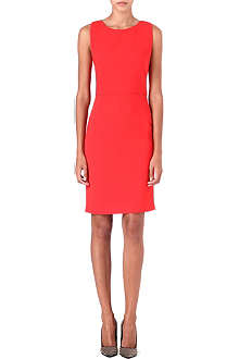 ANTONIO BERARDI Folded-detail crepe dress