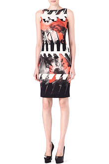 ANTONIO BERARDI Abstract-print knitted dress