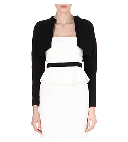 ANTONIO BERARDI Cropped jacket (Blk