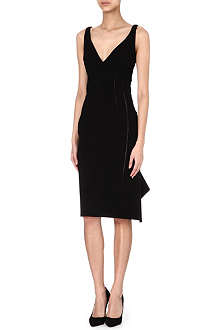 ANTONIO BERARDI Cut-out fluted-hem dress