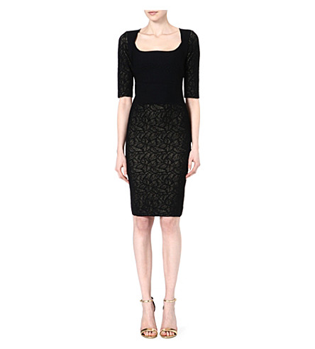 ANTONIO BERARDI Square neck dress (Blk
