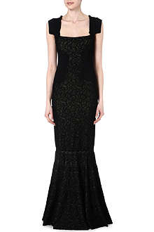 ANTONIO BERARDI Lace panel evening dress