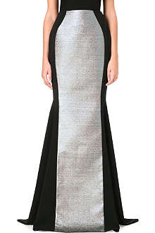 ANTONIO BERARDI Brocade-panel full-length skirt