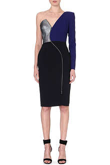 ANTONIO BERARDI Asymmetric metallic detail dress