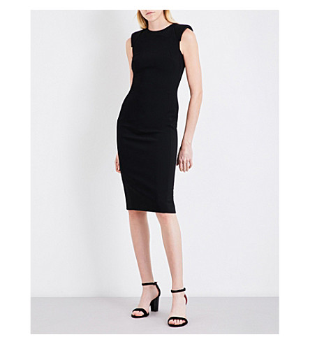 ANTONIO BERARDI Sleeveless twill pencil dress (Nero