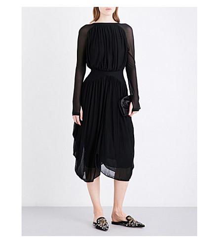 ANTONIO BERARDI Ruched knitted midi dress (Nero