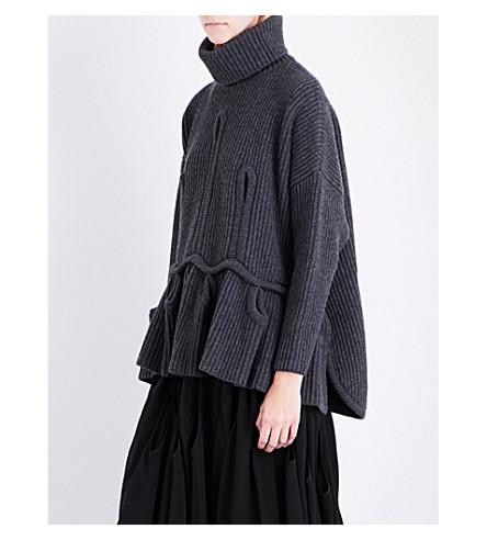 ANTONIO BERARDI Turtleneck wool and cashmere-jumper (Grigio