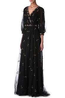 VALENTINO Embroidered lace gown