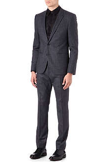 HUGO Ackson/Hastrings blurred gingham suit