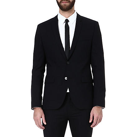 HUGO Adris single-breasted jacket (Black
