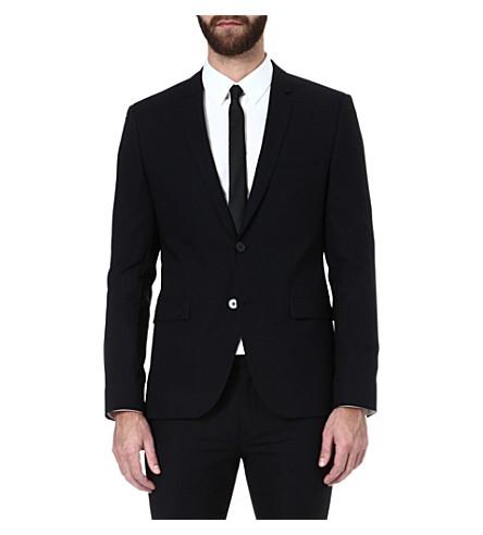 HUGO Adris single-breasted jacket (Black