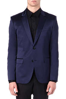 HUGO Two-button satin blazer
