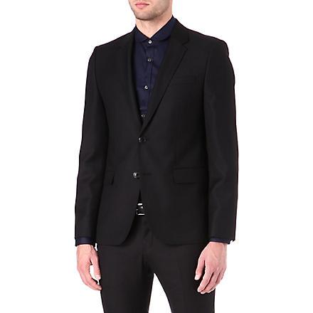 HUGO Single-breasted wool jacket (Black