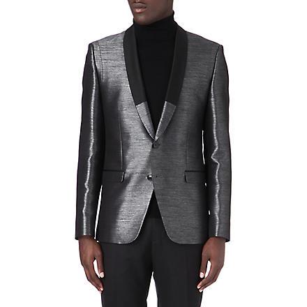 HUGO Ardall metallic blazer (Silver