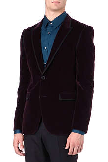 HUGO Two-button velvet blazer