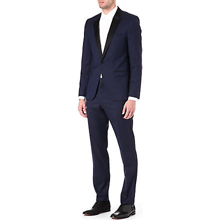 HUGO Avans/Hams silk-lapel suit (Navy