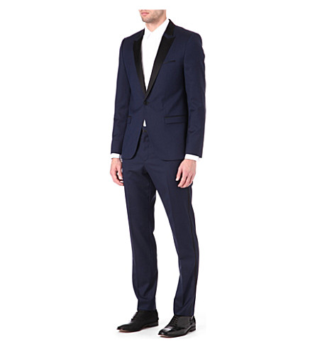 HUGO Avans/Hams silk-lapel suit (Navy