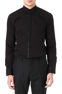 HUGO Faux leather placket shirt
