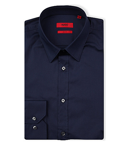HUGO Elisha slim-fit shirt (Navy