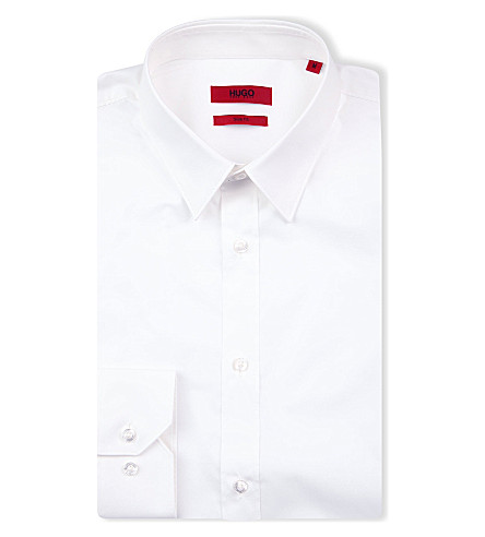 HUGO Elisha slim-fit shirt (White