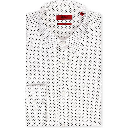 HUGO Mini Triangles slim-fit shirt (White