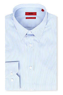 HUGO Elisha slim-fit bengal striped shirt