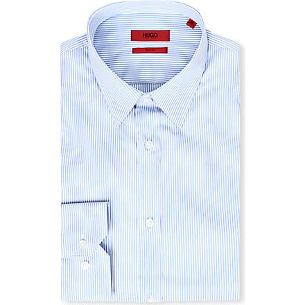 HUGO Elisha slim-fit bengal striped shirt (Blue/ white