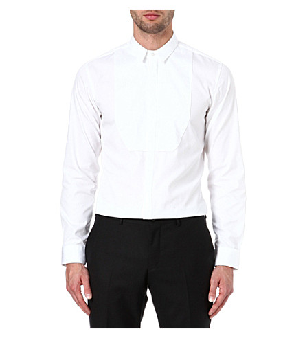 HUGO Emmer slim-fit evening shirt (White