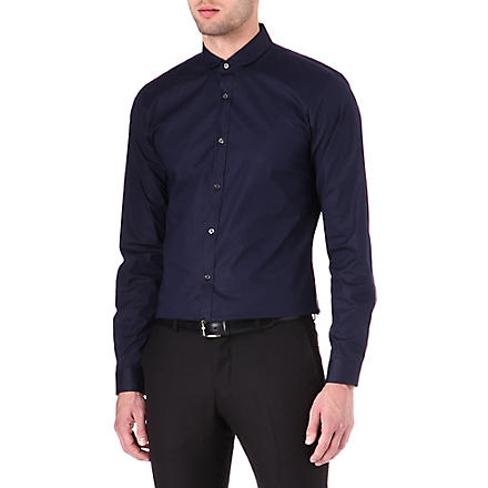 HUGO Enco penny collar shirt (Navy
