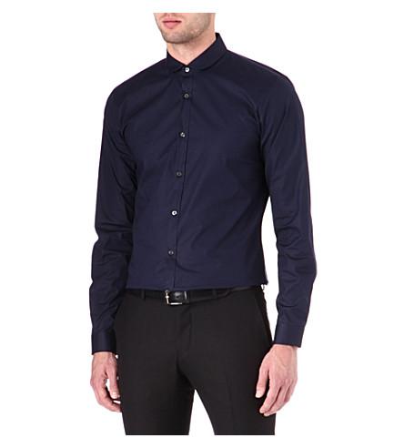 HUGO Enco penny collar shirt (Navy