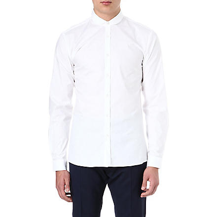 HUGO Enco penny collar shirt (White