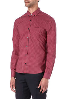 HUGO Slim-fit gingham shirt