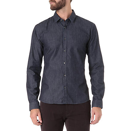 HUGO Slim-fit denim shirt (Indigo
