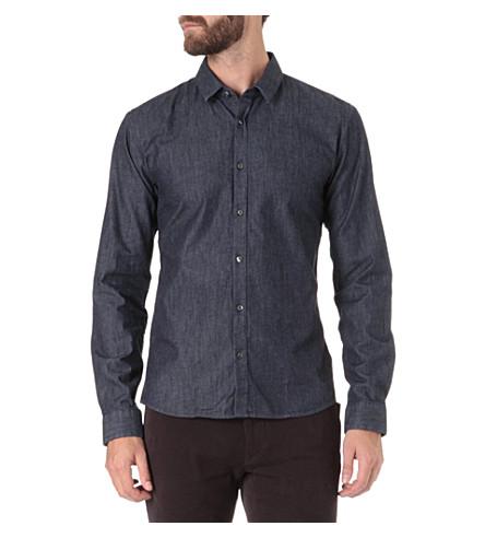 HUGO Slim-fit denim shirt (Indigo